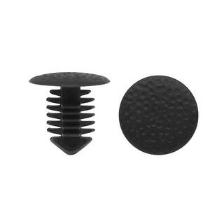 20Pcs 8mm Hole Dia. Plastic Rivets Fastener Clips Black for Car Auto Fender
