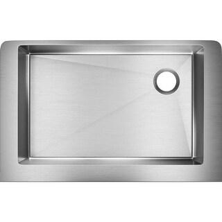 "Elkay ECTRUF30179R  Crosstown 35-7/8"" Apron Front Undermount Single Basin 18-Gauge Stainless Steel Kitchen Sink with Sound Guard"