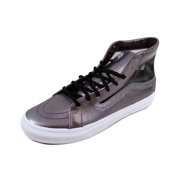 8e1cf85118 Shop Vans Men s Sk8 Hi Slim Cutout Mesh Metallic Thistle Purple True ...
