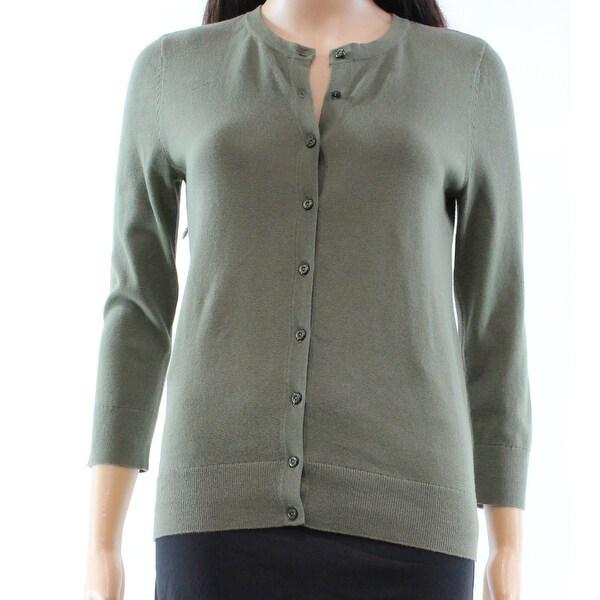 83cdd946b6 LOFT NEW Olive Green Women  x27 s Size XS Cardigan Button-Down Sweater