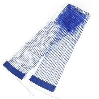 """Unique Bargains 68.9"""" x 5.9"""" Braided Meshy Nylon Table Tennis Net Blue White"""