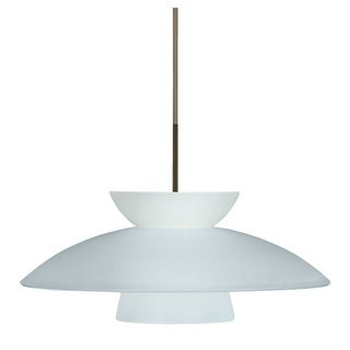 Besa Lighting 1JT-451325 Trilo 1 Light Cord-Hung Pendant with Frost Glass Shade