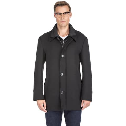 Braveman Men's Classic Fit Wool Blend Bibbed Topcoat