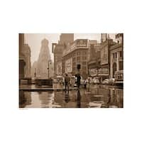 ''Times Square, 1943 (sepia)'' by Anon New York Art Print (13 x 19 in.)