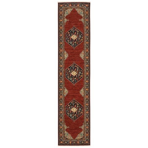 Leander Classic Persian Fringed Wool Blend Area Rug