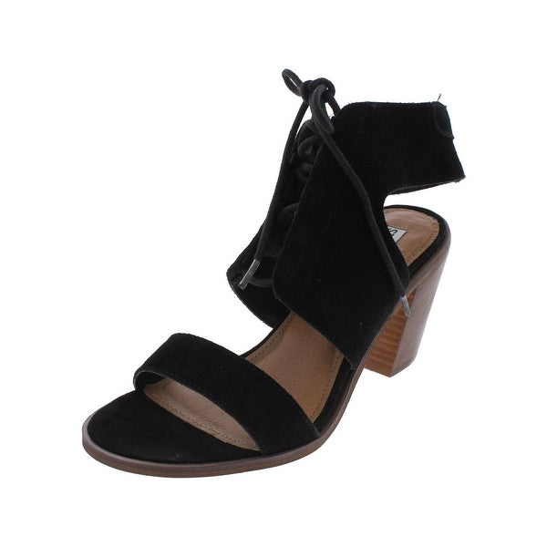 Steve Madden Womens Nanno Dress Sandals Open Toe Stacked Heel