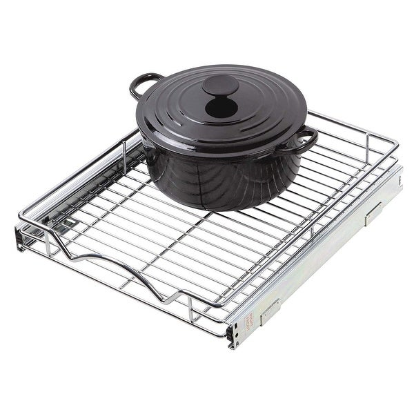 """Slide Out Cabinet Organizer - 14""""W x 18""""D, Minimum 15"""" Cabinet Opening. Opens flyout."""