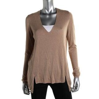 Zara Knit Womens Knit V-Neck Pullover Sweater - M