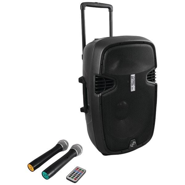 PYLE PRO PPHP159WMU 15'' 1600 Watt Bluetooth(R) Portable Loudspeaker System