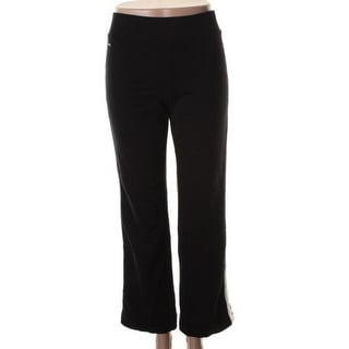 L-RL Lauren Active Womens Casual Pants Contrast Trim Elastic Waist