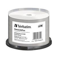 Verbatim DVD+R DL, 43754, 8.5GB, 8X, DataLifePlus White Thermal Printable, 50PK Spindle