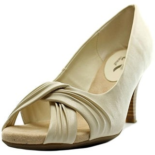 A2 By Aerosoles Deluxe Women  Peep-Toe Synthetic White Heels
