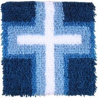 "Wonderart Latch Hook Kit 12""X12""-Cross Of Light"