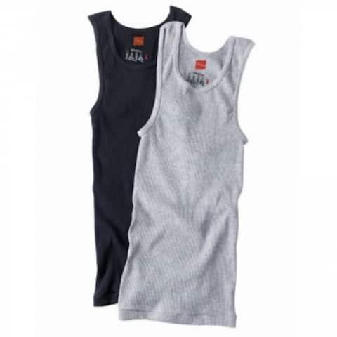 Hanes 392DP-2X ComfortSoft Cotton Men's Tank Tee-Shirt, 2XL, 2-Pack