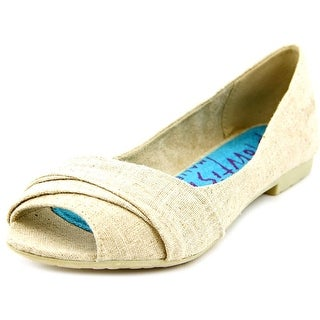 Blowfish Rale Women Open-Toe Canvas Nude Flats