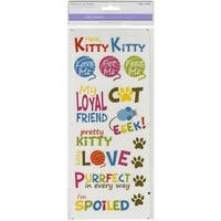 Multicraft Classic Theme Clear Stickers-Here, Kitty Kitty