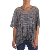 Democracy Womens Poncho Sweater Casual V-Neck