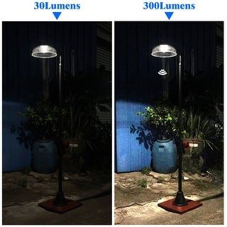 "Kanstar 81"" Solar Power 300 Lumen Motion Sensor Vintage Street Lamp Post"