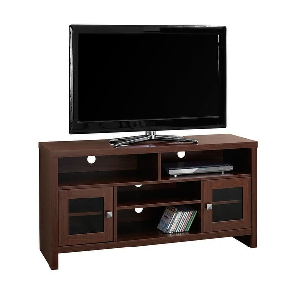 the best attitude d80cd 975e7 Monarch Specialties I 2706 47 Inch x 15 Inch Wood TV Stand - Cherry