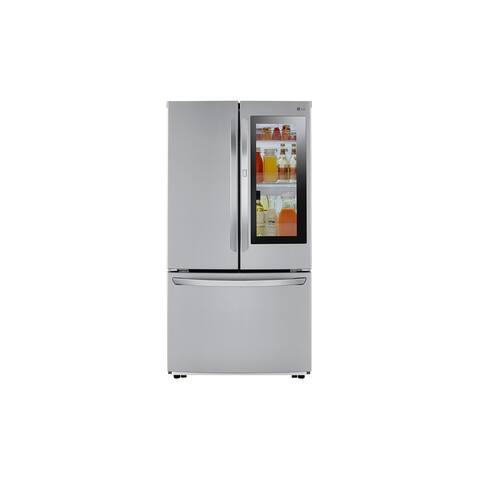 LG 23 cu.ft. 3 Door French Door, Non-Dispense InstaView, Counter-Depth, PrintProof Stainless Steel