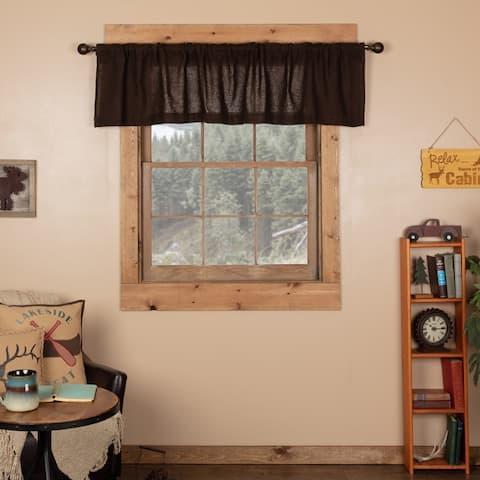 Farmhouse Kitchen Curtains VHC Cotton Burlap Valance Rod Pocket Solid Color
