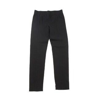 Inc International Concepts Black Skinny-Leg Seamed Pull-On Pants 0