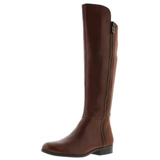 Bandolino Womens Camme Riding Boots Leather Round Toe