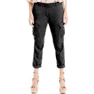 Max Studio Womens Cargo Pants Poplin Solid
