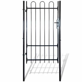 "vidaXL Fence Gate with Hoop Top (single) 39.4""x68.9"""