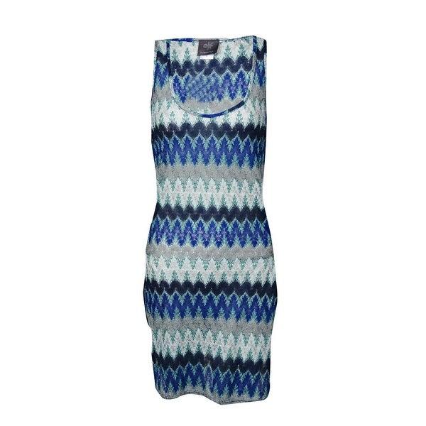 Elif for Jordan Taylor Women's Side Wrap Tank Dress Cover-Up - Cobalt/Navy