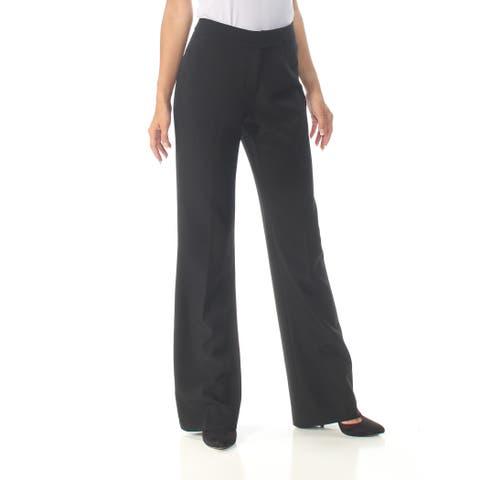 ANNE KLEIN Womens Black Boot Cut Wear To Work Pants Size: 2