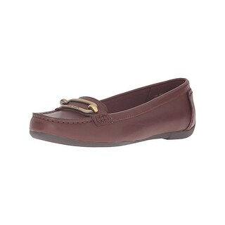 Anne Klein Womens Noris Loafers Embellished Square Toe