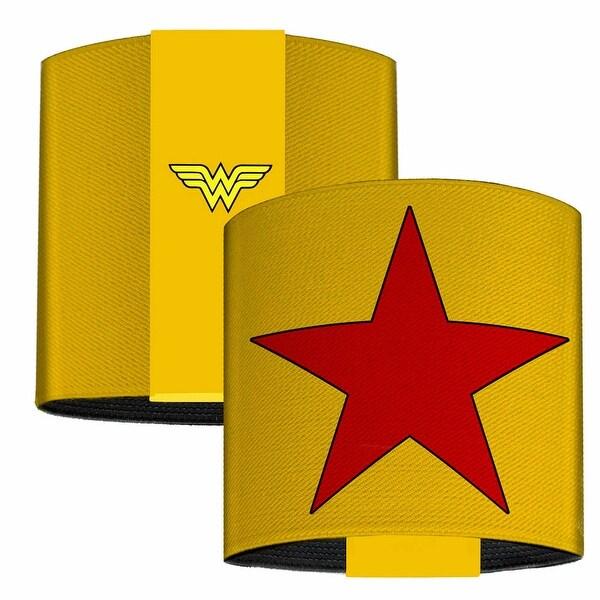 Wonder Woman Star Yellow Red Elastic Wrist Cuff