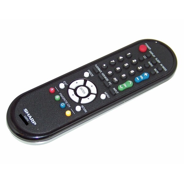 OEM Sharp Remote Control: Read Description LC19D45U, LC-19D45U, LC19SB14, LC-19SB14, LC19SB14U, LC-19SB14U
