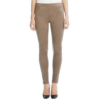 Karen Kane Womens Skinny Pants Faux Suede Comfort Waist