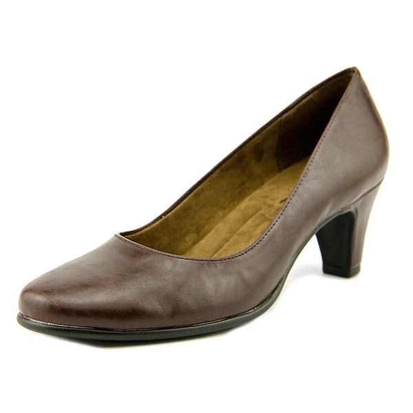 A2 By Aerosoles Redwood Women Round Toe Synthetic Brown Heels