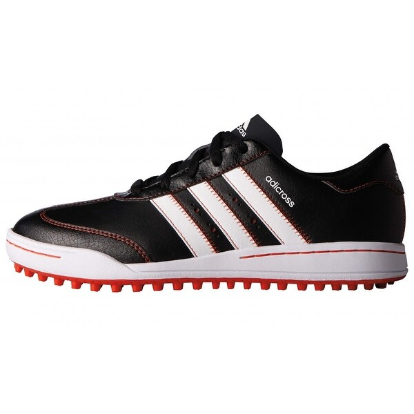 Adidas Junior Adicross V Core Black/Running White/Red Golf Shoes F33532. Opens flyout.