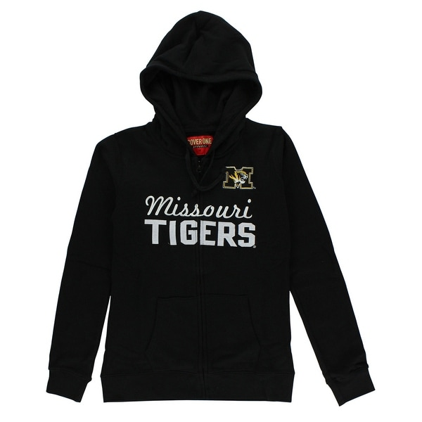 1d5dd5fb8 Shop Cover One Womens Missouri Tigers Cotton Full Zip Hoodie Black - BLACK/ WHITE - M - Free Shipping On Orders Over $45 - Overstock - 22574041