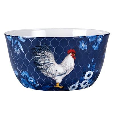 Certified International Indigo Rooster 192 oz. Deep Serving Bowl