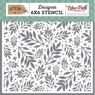 "Autumn Branches - Echo Park Stencil 6""X6"""
