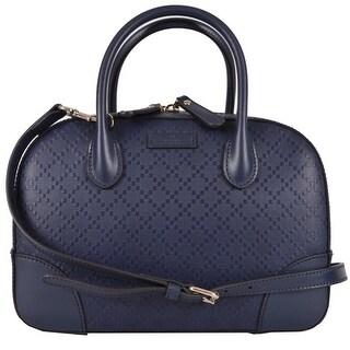 New Gucci 354224 Bright Diamante BLUE Leather Convertible Purse Handbag