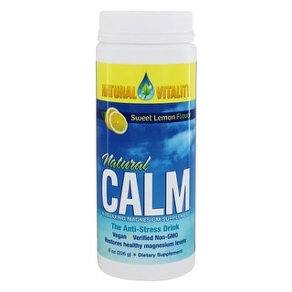 Natural Vitality Natural Calm Magnesium Supplement Lemon 8-ounce