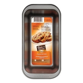 "Baker's Secret 1114434 Loaf Pan, Medium, Non Stick, Gray, 8.46"" x 4.4"" x 2.44"""