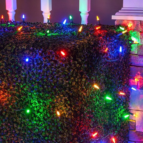 Wintergreen Lighting 72494 100 Bulb 4Ft x 6 Ft LED Decorative Holiday Net Light - Multi Color - N/A