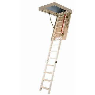 Fakro 66802 LWP Wooden Insulated Attic Ladder, 300Lbs