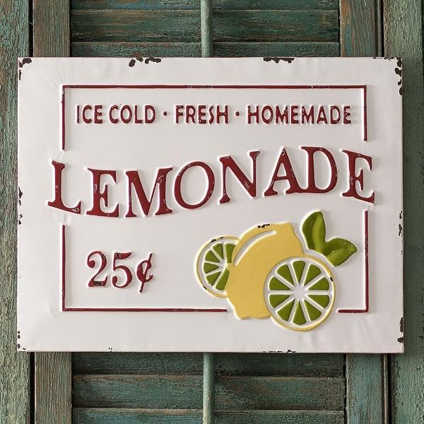 """""""Lemonade"""" Metal Sign"""