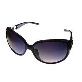 Kenneth Cole Reaction Womens Plastic Sunglass Black Rectangle, KC1169 1A