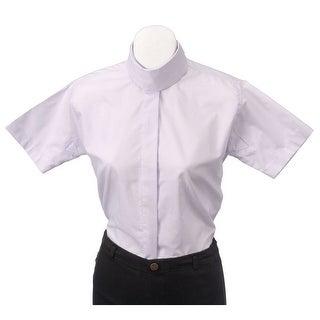 Tough-1 English Shirt Girls S/S Comfort Riders 12 Lavender