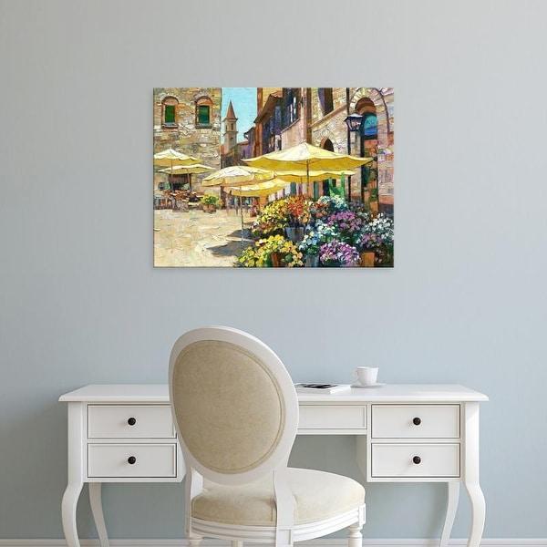 Easy Art Prints Howard Behrens's 'Siena Flower Market' Premium Canvas Art