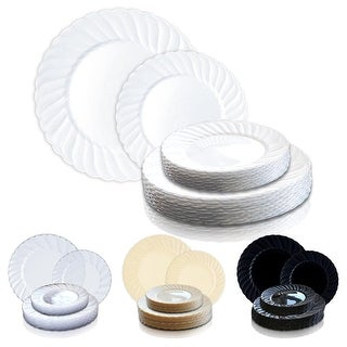 Link to Solid Round Flaired Disposable Plastic Plate Packs - Party Supplies Similar Items in Dinnerware